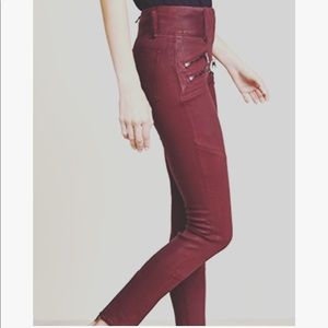 Abercrombie High Rise Moto Jeans